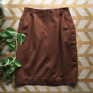 VTG | Talbots Brown Wool Pencil Skirt